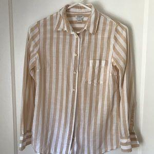 J.Crew Striped Oxford Shirt